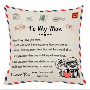 To My Man Pillow Cover